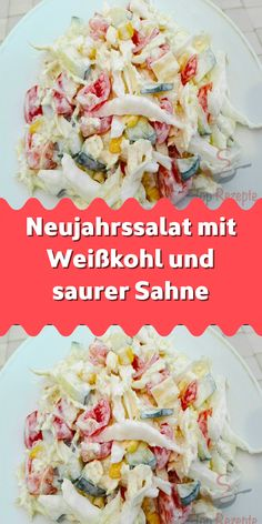 Neujahrssalat mit Weißkohl und saurer Sahne - Super Rezepte Many of us choose to lose weight as a Ne Pork Chop Recipes, Turkey Recipes, Grilling Recipes, Fall Recipes, Potato Recipes, Christmas Recipes, Italian Recipes, Mexican Food Recipes, Ethnic Recipes