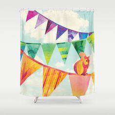 Shanti Sparrow: Hamish the Squirrel  Shower Curtain by Shanti Sparrow - $68.00