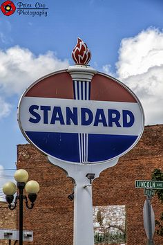 Roadside Signs, Standard Oil, Old Gas Stations, Porcelain Signs, Gas Pumps, Painted Signs, Vintage Signs, Road Maps, Sign Painting