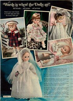 1974 Wards Exclusive Dolls All Named SUSIE