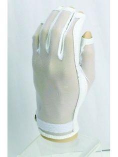 Ladies Golf Accessories : Evertan 3/4 (Tipless) Golf Glove-White Pearl