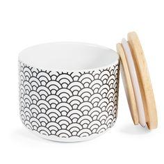 Pot motif japonais en porcelaine H ...