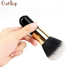 Best Deal 1pcs Big Size Powder Brush Cosmetic Beauty Blush Brush for Makeup Soft Facial Finishing Powder Wood Black Handle #Affiliate