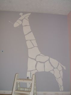 gray nursery pic | Cut out for changing table...