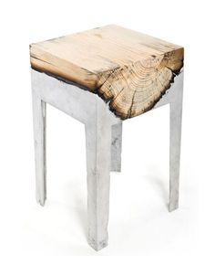 log in concrete furniture... could probably use some castors