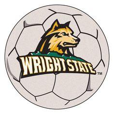 Wright State Raiders NCAA Soccer Ball Round Floor Mat (29)