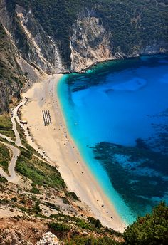 Myrtos beach, surely the most famous among the beaches of #Kefalonia island. #Greece #kitsakis