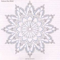 #Crochet star diagram. by john