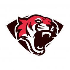 Tigre - vector logo / icono ilustración mascota Vector Premium Tiger Logo, Lion Logo, Game Logo Design, Branding Design, Sphynx, Hanuman Images, Esports Logo, Animal Logo, Icon Design
