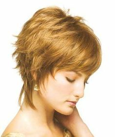 Remarkable Short Shag Hairstyles With Straight Front And Sides And Curly Back Short Hairstyles Gunalazisus
