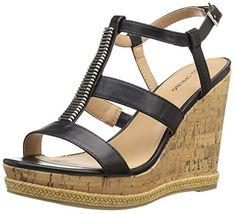 48f3eb1519 Call It Spring Womens Terreti Wedge Sandal Black Synthetic 75 B US >>