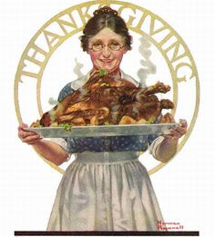 Thanksgiving, the Norman Rockwell Literary Digest cover from November 1919