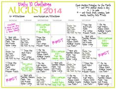 August 2014 - Daily 10 Challenge - 10 minutes a day