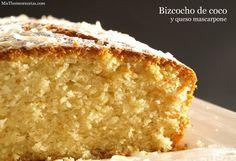 Bizcocho de coco y queso mascarpone - MisThermorecetas.com