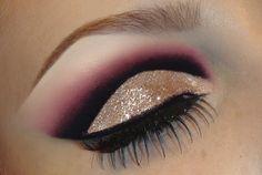 Trucco occhi e labbra con glitter oro - VideoTrucco