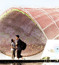 The Coca Cola Plastic Bottle Pavilion in Beijing at the Student Design Exhibition.