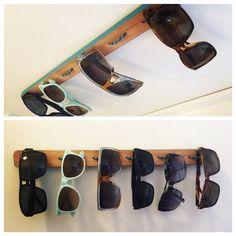 Homemade sunglasses storage solution!