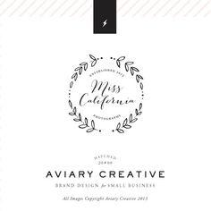 """Pre-made Logo Design  """"Miss California"""" Boutique Graphic Design / Custom Branding. $49.00, via Etsy."""