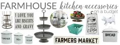 The epitome of farmhouse kitchen style is a utensil that functions as decor, too. I've rounded up some favorite, budget-friendly accessories!