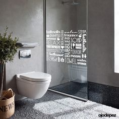 Here we showcase a a collection of perfectly minimal interior design examples for you to use as inspiration. Check out the previous post in the series: Minimal Bathroom Renos, Grey Bathrooms, Modern Bathroom, Small Bathroom, Beautiful Bathrooms, Interior Design Examples, Interior Design Inspiration, Floating Toilet, Toilette Design