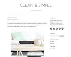 Wordpress premade theme. Clean stylish modern and by ThemeFashion, $30.00