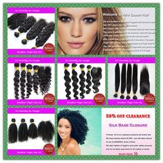 1. Afro Queen Hair Quality is certificated by SGS 2. All of our hair is 100% unprocessed virgin hair 3.Grade A hair on BIG SALE!!! 30% off 4. Your beauty is our glory 5. You will fine a hair suitable for you from our store. http://www.aliexpress.com/store/302731