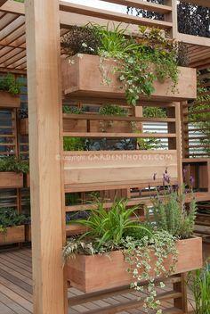 planters for pergola