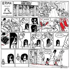 I love how Erma walks that line where I feel childish but adult at the same time. So cute but enough that the horror movie base always gently nags at me. Like t - added by fivefs at New Erma comic. Cute Comics, Funny Comics, Comedy Comics, Erma Comic, Online Comics, Comics Story, Short Comics, Manga Comics, Funny Cartoons