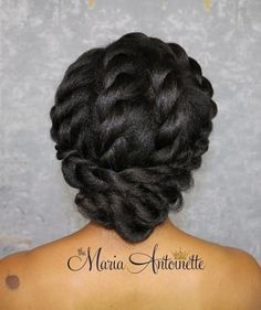 50 Best Showy Protective Hairstyles for Natural Hair Adorable Loosely Twisted Updo for Naturalistas Protective Hairstyles For Natural Hair, Natural Hair Updo, Natural Hair Care, Braided Hairstyles, Dreadlock Hairstyles, Braided Updo, African American Updo Hairstyles, Natural Hair Wedding, Hairstyle Braid