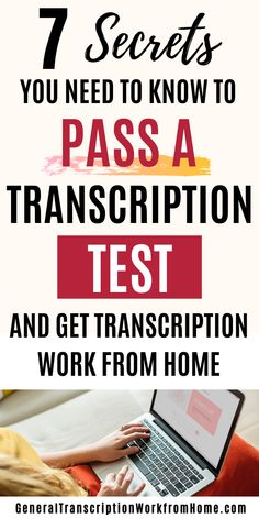 How to Pass Transcription Employment Tests - Work from Home Jobs, Online Jobs & Side Hustles Amazon Work From Home, Legit Work From Home, Legitimate Work From Home, Work From Home Tips, Transcription Jobs From Home, Transcription Jobs For Beginners, Online Jobs From Home, Online Work, Work At Home Jobs