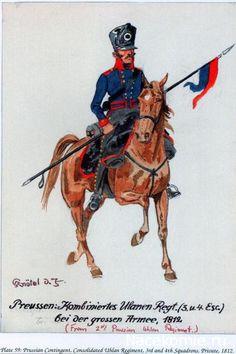 FRANCE - Reggimenti Stranieri della Grande Armée - PRUSSIA - 2° Reggimento Combinato Ulani (3° e 4° Squadrone), 1812
