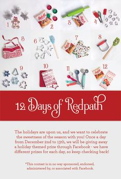 12 Days of Redpath Holiday Contest