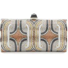 Crystal Swirls Violin Clutch Bag