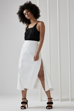 C MEO COLLECTIVE SILVER SOUNDS SKIRT Classic Style 249316db871