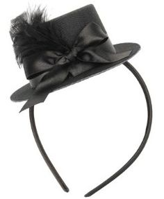 I have no idea where/when I would wear this, but I find it absolutely adorable!   LOVE The top hat headbands