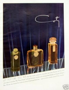 1939 Coty Perfume Ad. Gorgeous!