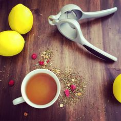 When life gives you lemons, squeeze them into our Raspberry Lemonade #tea.