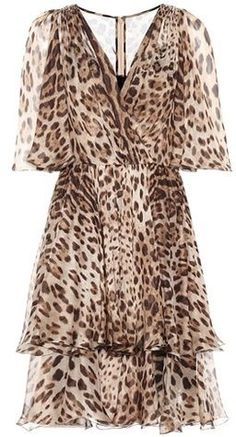 Dolce & Gabbana Leopard-printed silk dress