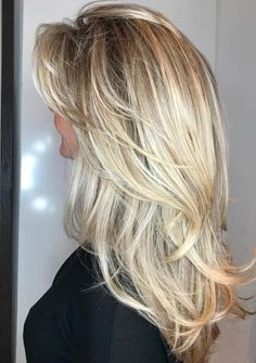 50 Cute and Effortless Long Layered Haircuts with Bangs : Long Layered Blonde Hairstyle Layered Haircuts With Bangs, Long Hair With Bangs, Long Hair Cuts, Layered Hairstyles, Haircut Layers, Trendy Hairstyles, Layer Haircuts, Wedding Hairstyles, Hairstyles 2018
