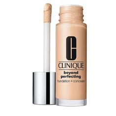 Clinique Beyond Perfecting Foundation + Concealer/1 oz. ($27) ❤ liked on Polyvore featuring beauty products, makeup, face makeup, concealer, beauty, corretivo, cosmetics, filler, apparel & accessories and clinique concealer