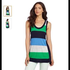 Two by Vince Camuto Women's Rugby Stripe Tank Product Dimensions: 20.1 x 8.8 x 2.5 inches (approximate)                                                                     Fabric- Rayon two by vince camuto Tops Tank Tops