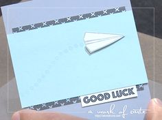 2017 Stampin' Up Occasions Sneak Peek: Custom Tee Paper Airplane Card