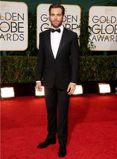 Golden Globes 2014: Chris Pine in Ermenegildo Zegna Couture
