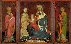 Лоренцо Салимбени. Триптих «Мистическое обручение св. Екатерины». 1400 г. Сан Северино, Пинакотека.