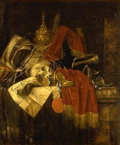 Franciscus Gysbrechts o Gijsbrechts (Bélgica, 1649-1676). Vanitas.