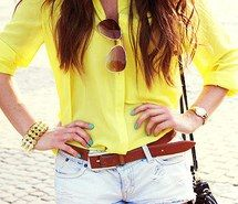 Inspiring picture clothes, love, summer, yellow.