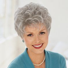 Cancer Patients Wigs, Chemo Wigs, Short Wigs, Black Wigs, Wigs For Women - TLC $56 Short Hair Over 60, Short Permed Hair, Short Human Hair Wigs, Thin Curly Hair, Short Hair With Layers, Curly Hair Styles, Hair Styles For Women Over 50, Short Hair Cuts For Women, Short Hairstyles For Women