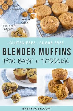 Healthy Snacks For Kids These three fall blender muffin recipes are beyond moist, tender, and taste and maybe most importantly, super easy to make! It takes just five minutes of prep to make these healthy mini muffins for your toddler and kids. Kids Cooking Recipes, Baby Food Recipes, Gourmet Recipes, Kids Meals, Snack Recipes, Easy Cooking, Cooking Corn, Banana Recipes For Baby, Apple Recipes For Toddlers