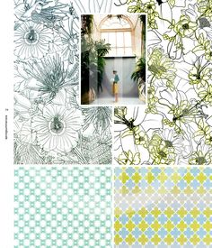 Vision sottolinea la significativa influenza delle stampe nel campo della moda e della decorazione. I temi principali sono illustrati nel corso di 6 temi e gamme colori e si concretizzano in ben 175 motivi di ispirazione.