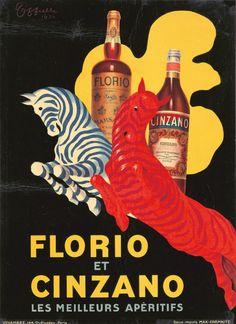 Florio et Cinzano. 1930 Artist: LEONETTO CAPPIELLO